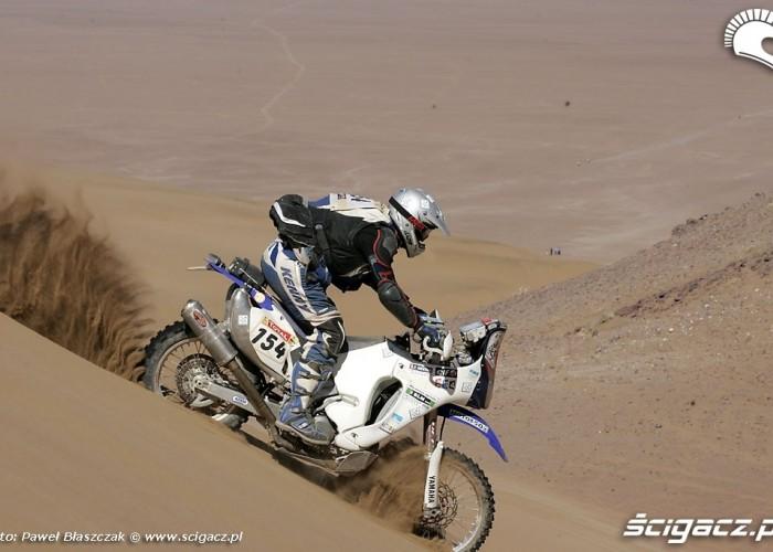 Rajd Dakar 2009 Pustynia Atacama wydma zjazd