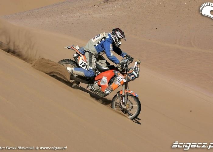 Rajd Dakar 2009 Pustynia Atacama wydmy