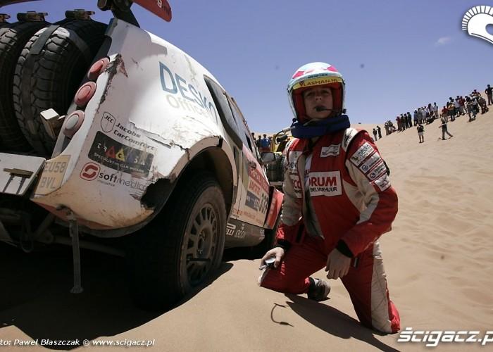Rajd Dakar 2009 Pustynia Atacama wykopywanie