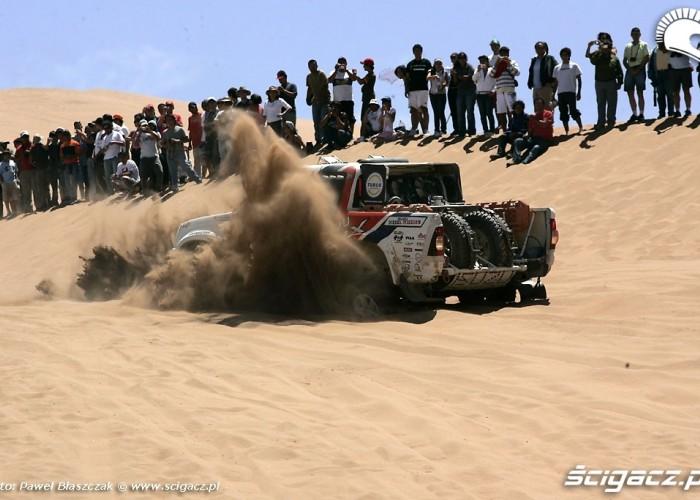 Rajd Dakar 2009 Pustynia Atacama zakopany