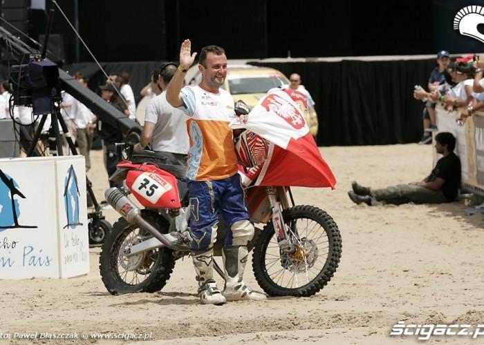 Krzysiek Jarmuz po zakonczeniu Dakaru2009