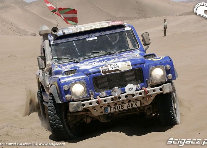 Baskowie Rajd Dakar 2010 opuszcza pustynie