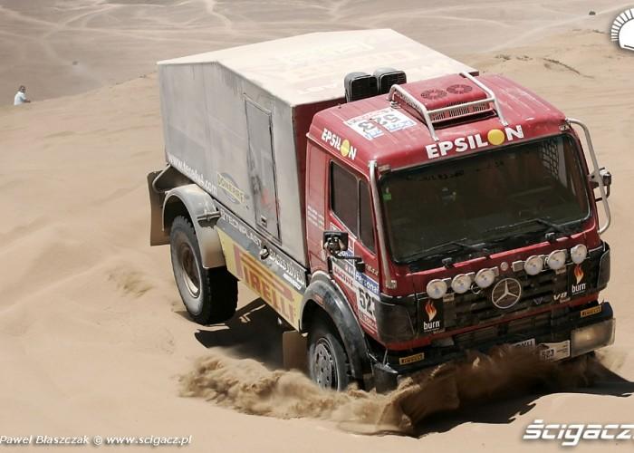 Mercedes Truck Rajd Dakar 2010 opuszcza pustynie