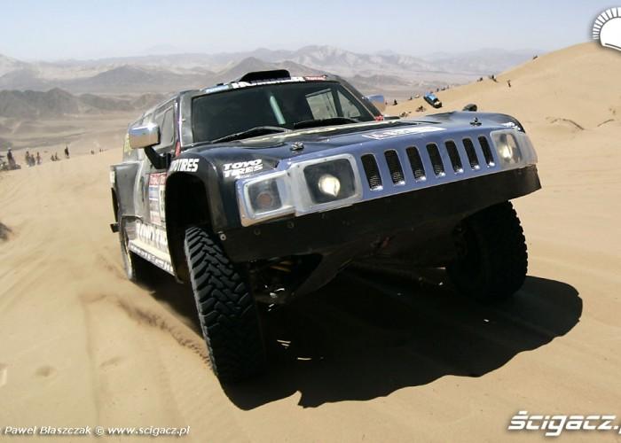 Rajd Dakar 2010 opuszcza pustynie Hummer