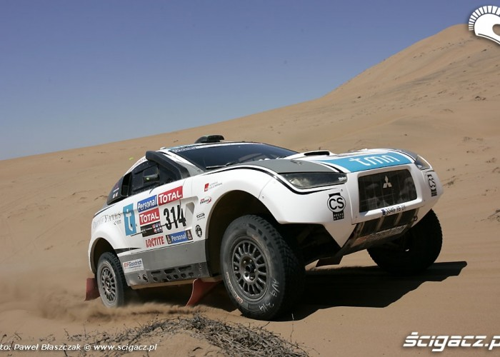 Rajd Dakar 2010 opuszcza pustynie Mitsubishi