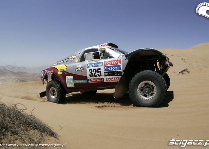 Rajd Dakar 2010 opuszcza pustynie samochody na Pustyni