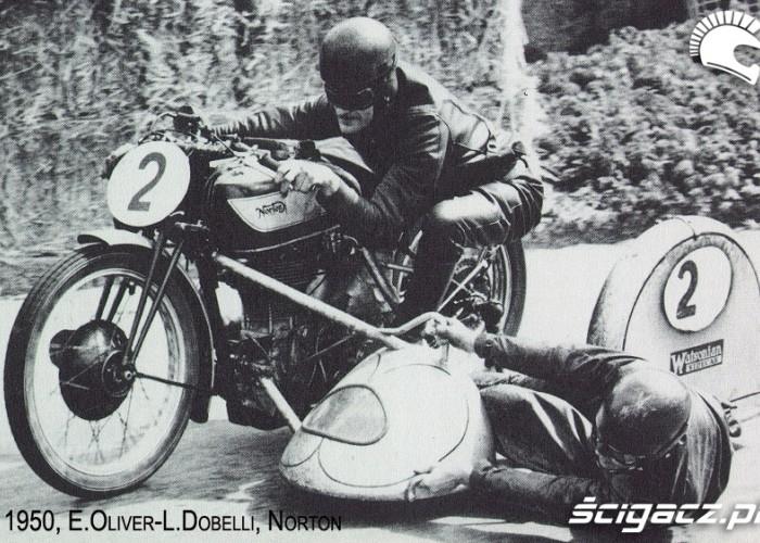 08) 1950 Sidecar Norton Mistrzowie swiata Eric Oliver - Lo