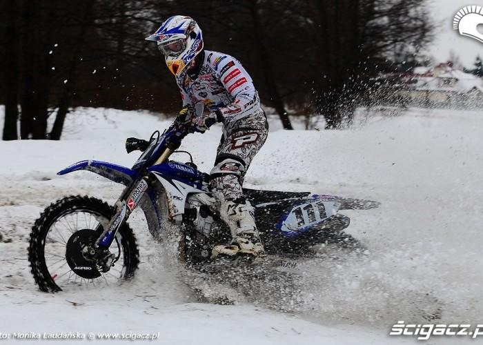 Sniezny trening Kurowskiego