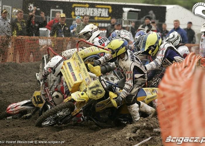 Mistrzostwa Swiata w Motocrossie Sidecar Gdansk 2009 crash