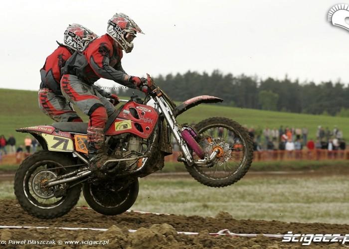 Mistrzostwa Swiata w Motocrossie Sidecar Gdansk 2009 ladowanie