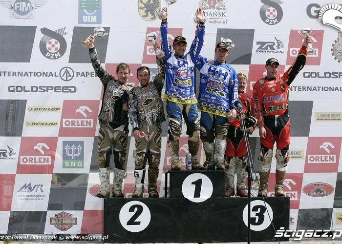 Mistrzostwa Swiata w Motocrossie Sidecar Gdansk 2009 podium