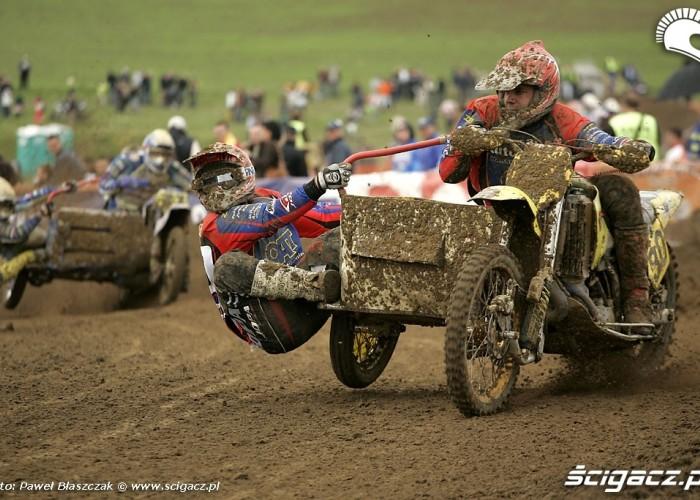 Mistrzostwa Swiata w Motocrossie Sidecar Gdansk 2009 ubloceni zawodnicy