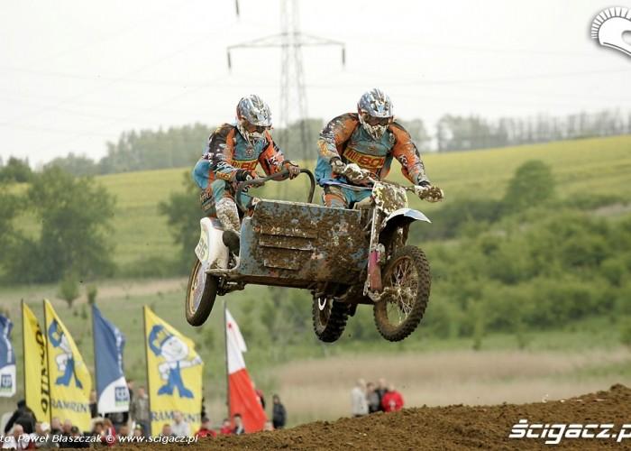 Mistrzostwa Swiata w Motocrossie Sidecar Gdansk 2009 w locie