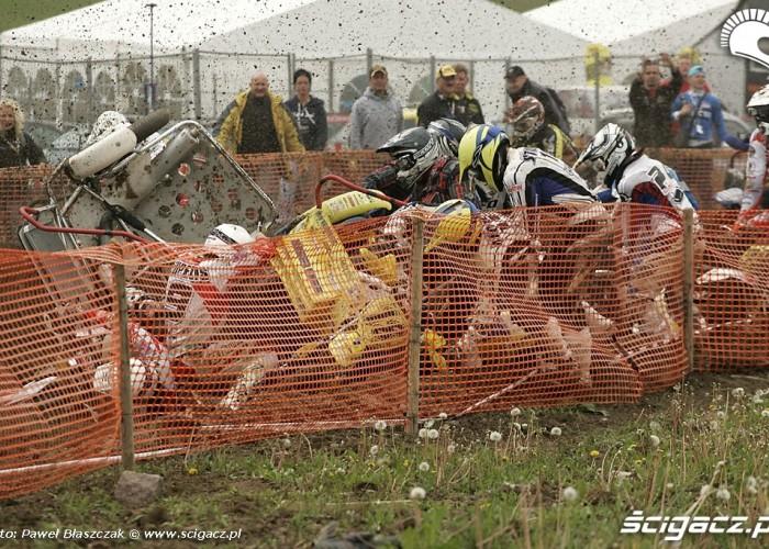 Mistrzostwa Swiata w Motocrossie Sidecar Gdansk 2009 wypadek