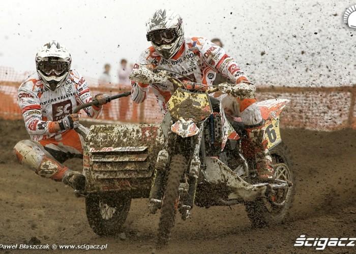 Mistrzostwa Swiata w Motocrossie Sidecar Gdansk 2009 wyscig zawodnicy
