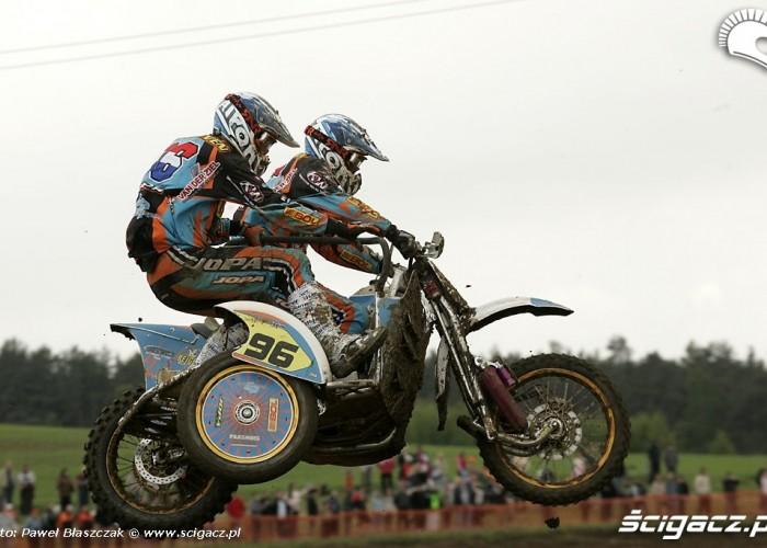 Mistrzostwa Swiata w Motocrossie Sidecar Gdansk 2009 wyskok