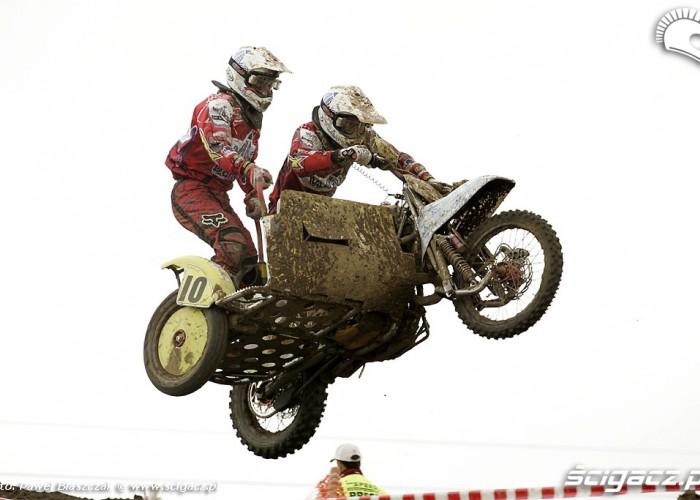 Mistrzostwa Swiata w Motocrossie Sidecar Gdansk 2009 wysoki skok
