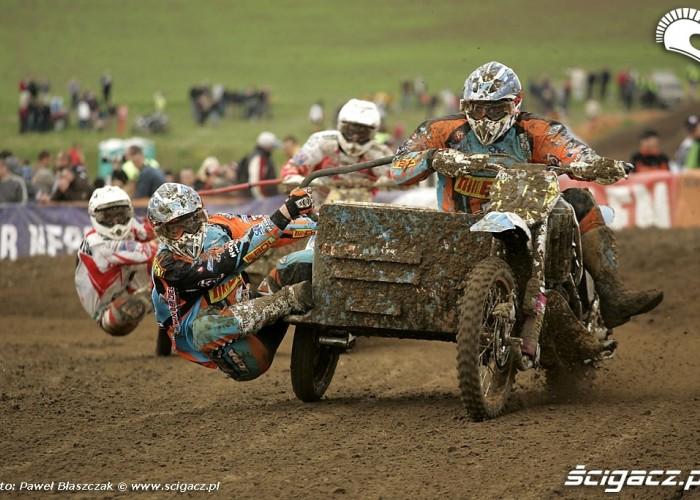 Mistrzostwa Swiata w Motocrossie Sidecar Gdansk 2009 zacieta walka