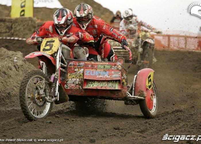 Mistrzostwa Swiata w Motocrossie Sidecar Gdansk 2009 zawodnicy z nr 5