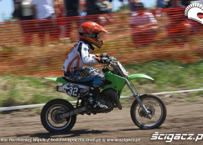 kawasaki mx65 motocrossowe mistrzostwa polski strykow 2010