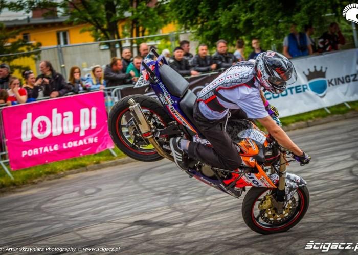 360 stoppie Moto Show Bielawa Polish Stunt Cup 2015