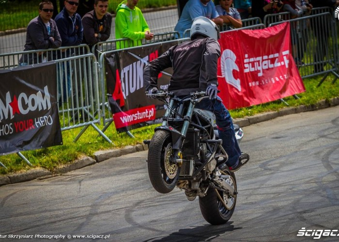 LukaszFRS backside wheelie Moto Show Bielawa Polish Stunt Cup 2015