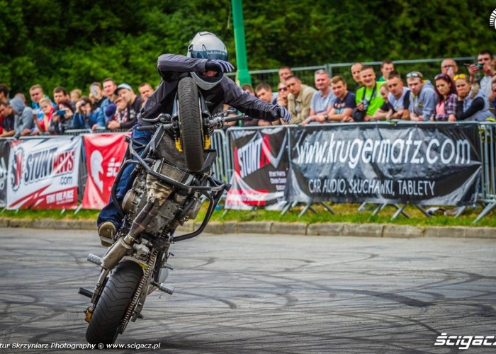 Lukasz FRS cyrkle Moto Show Bielawa Polish Stunt Cup 2015