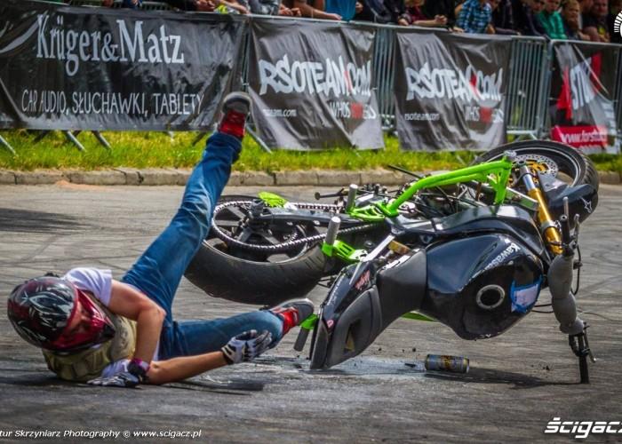 Lukasz Madej gleba Moto Show Bielawa Polish Stunt Cup 2015