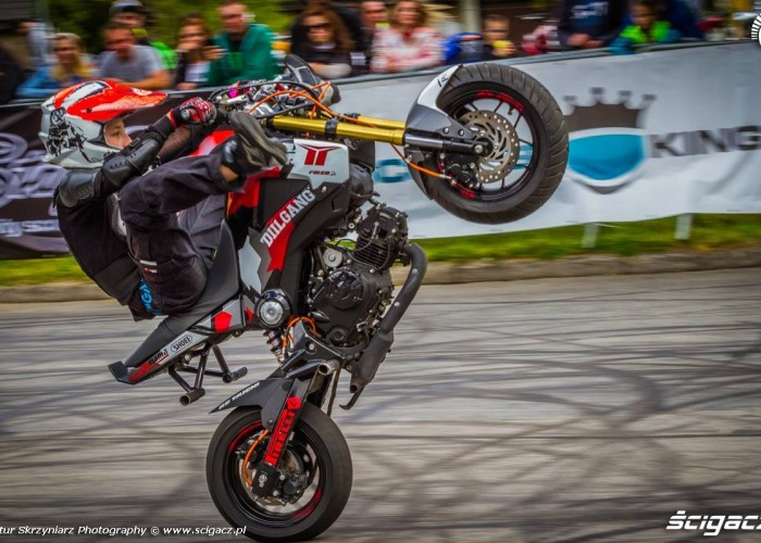 Piotrus stunt Moto Show Bielawa Polish Stunt Cup 2015
