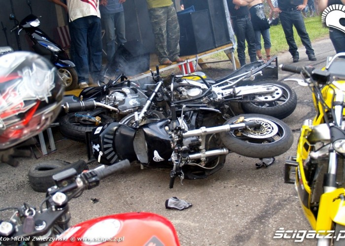 rozbite motocykle