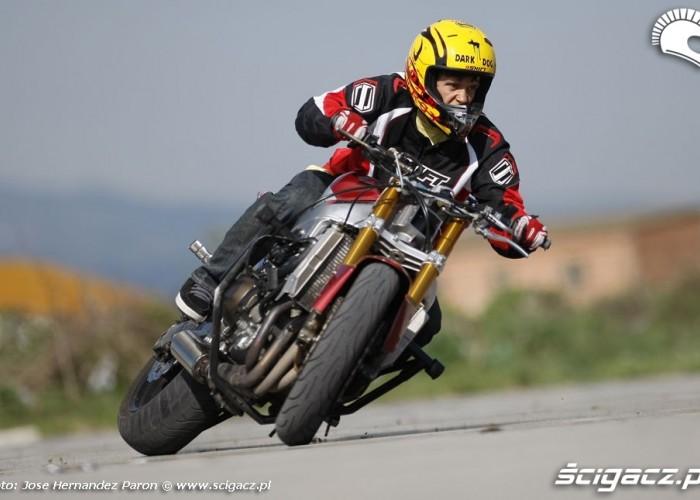 Drift motocyklowy Rafal Pasierbek