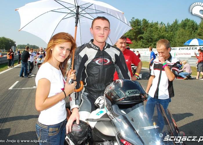 Olga Grzesiek przed startem