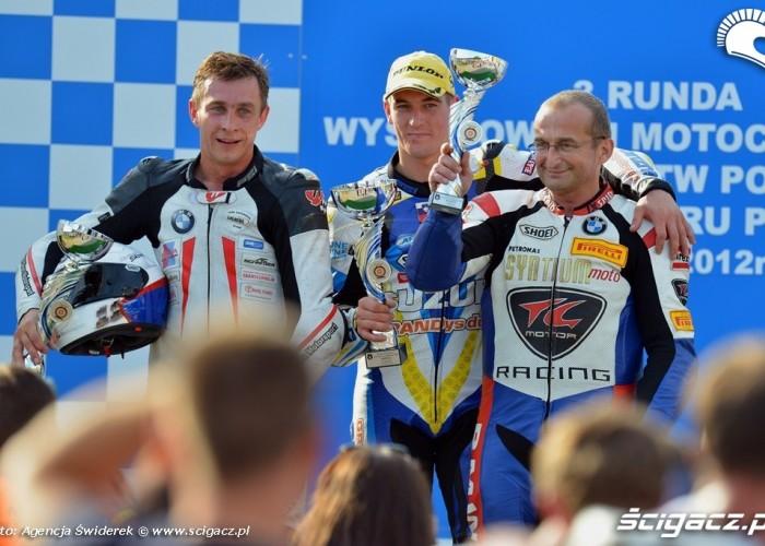 Podium Wyscigowe Motocyklowe Mistrzostwa Polski 2012