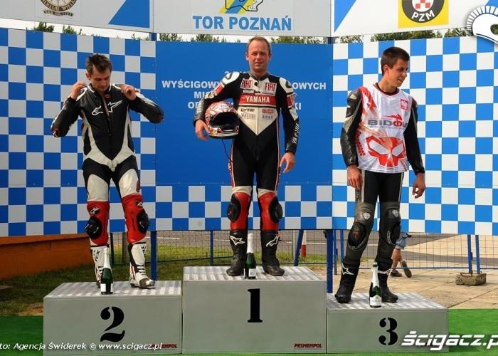 Podium Wyscigowe Motocyklowe Mistrzostwa Polski 2012 Poznan