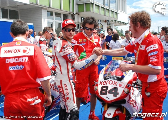 World Superbike Brno round Fabrizio Ducati Xerox Team