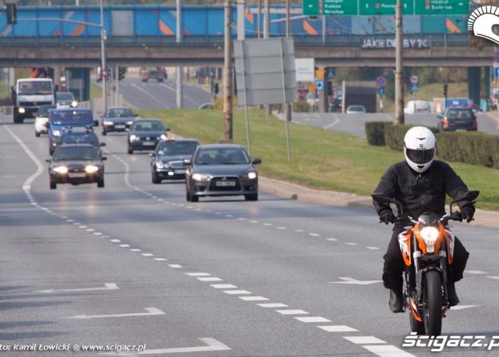ulica KTM Duke 200 scigacz pl