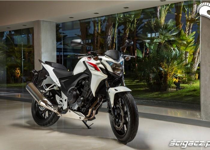 Biala Honda CB500F 2013