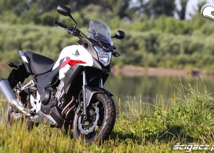 brzeg rzeki przod Honda CB500AX Scigacz.pl