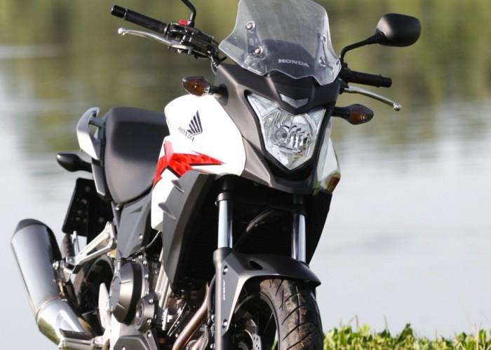 nad brzegiem Honda CB500AX Scigacz.pl