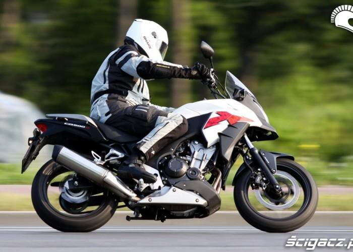 szybki zakret Honda CB500AX Scigacz.pl