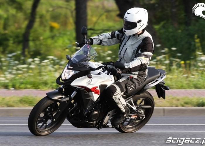 zjazd z drogi Honda CB500AX Scigacz.pl