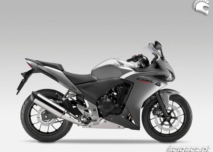 Prawy profil nowa Honda CBR500R 2013
