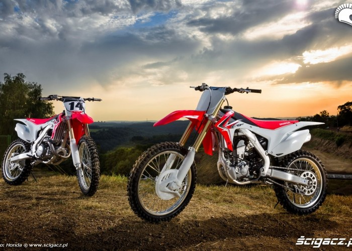 crf250r 2014 dwa motocykle