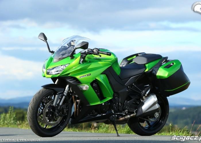 Zielone Kawasaki Z1000SX 2014