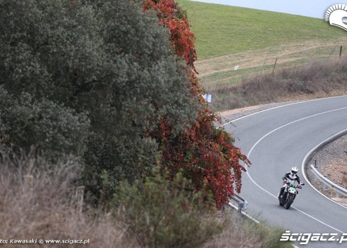 Jesien w Andaluzji Kawasaki Z1000 2014