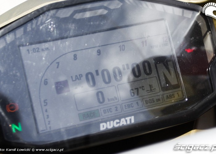 lcd lap timer Ducati Panigale S Scigacz pl