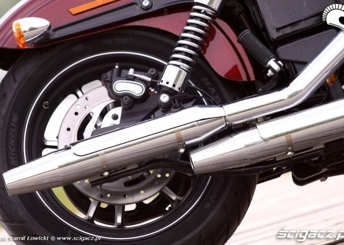 Harley Davidson Street Bob Special Edition koncowki wydechu