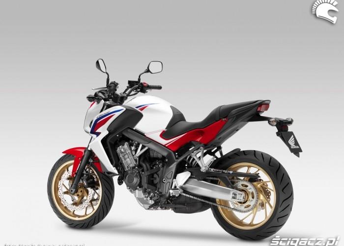 Lewy profil Honda CB650F 2014