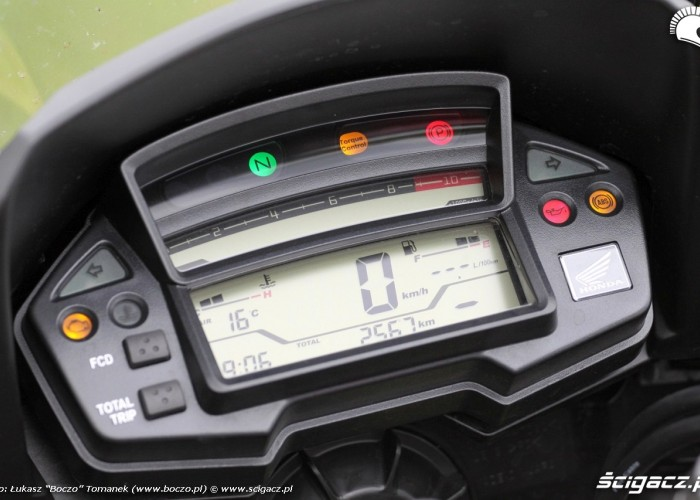 kokpit Honda Crosstourer DCT