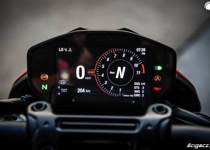 Hypermotard 950 SP zegary